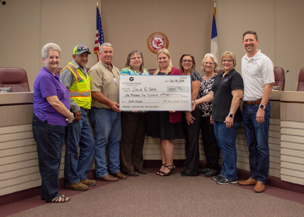 Telecommunications company gives back to the City of El Campo, TX.