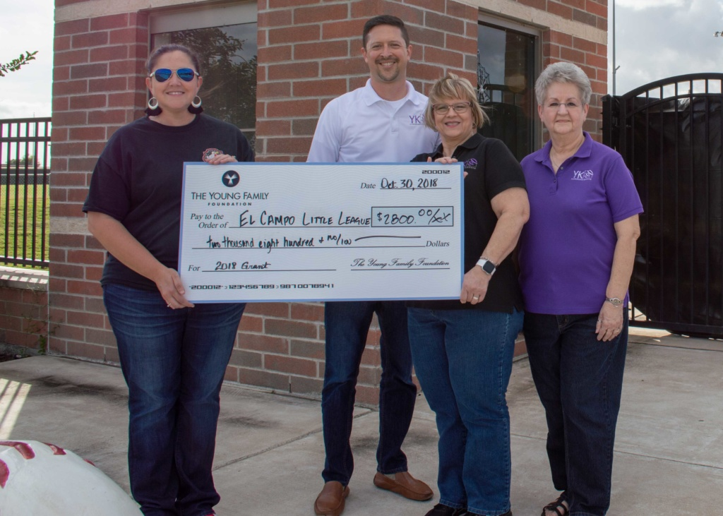 High-speed internet provider gives back to sports in El Campo, TX.