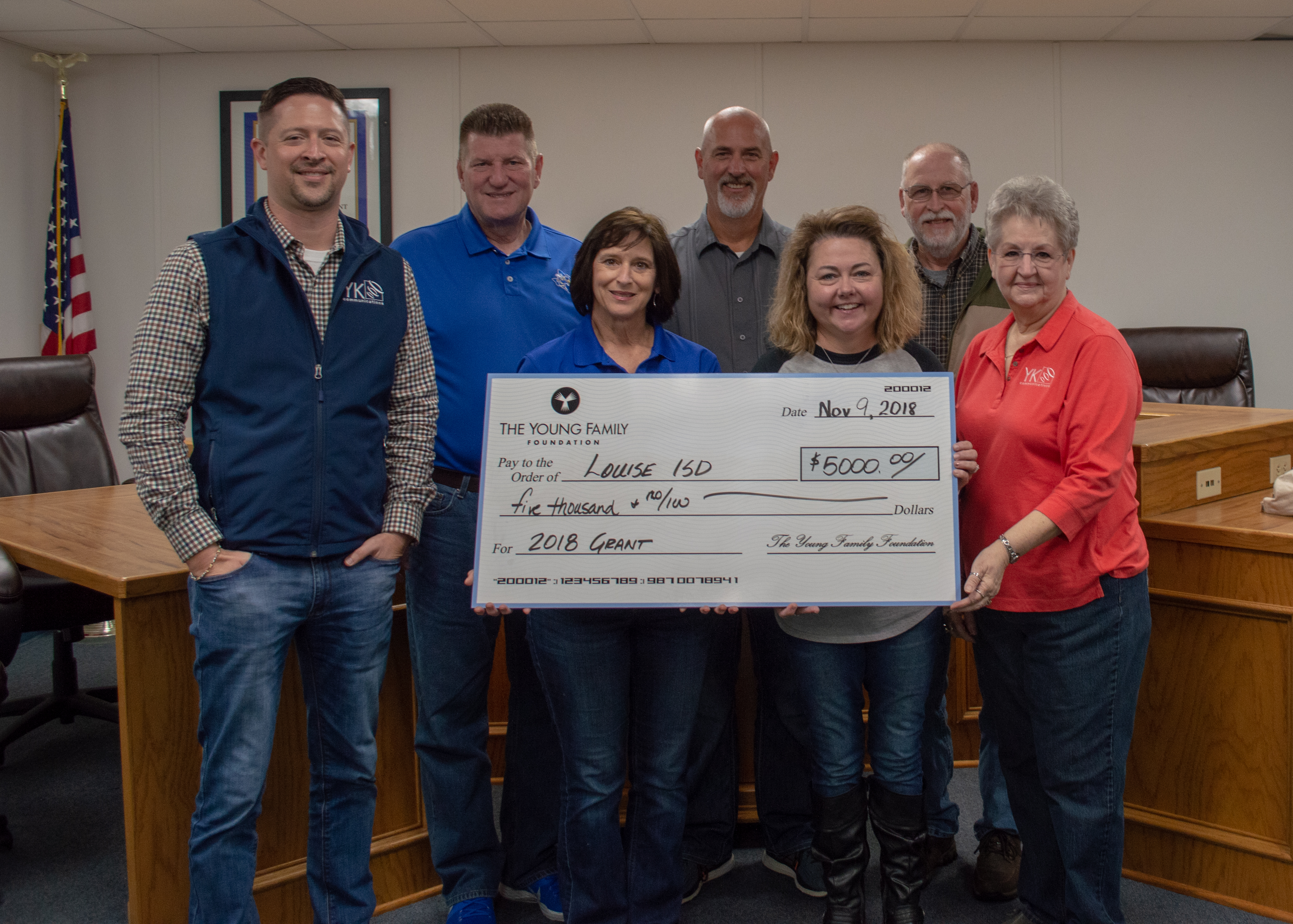 YK Communications gives back to community in Louise, TX