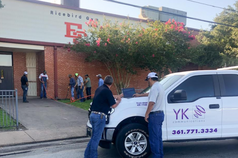 ECISD schools and admin building get connected via fiber optic network by YK Communications.