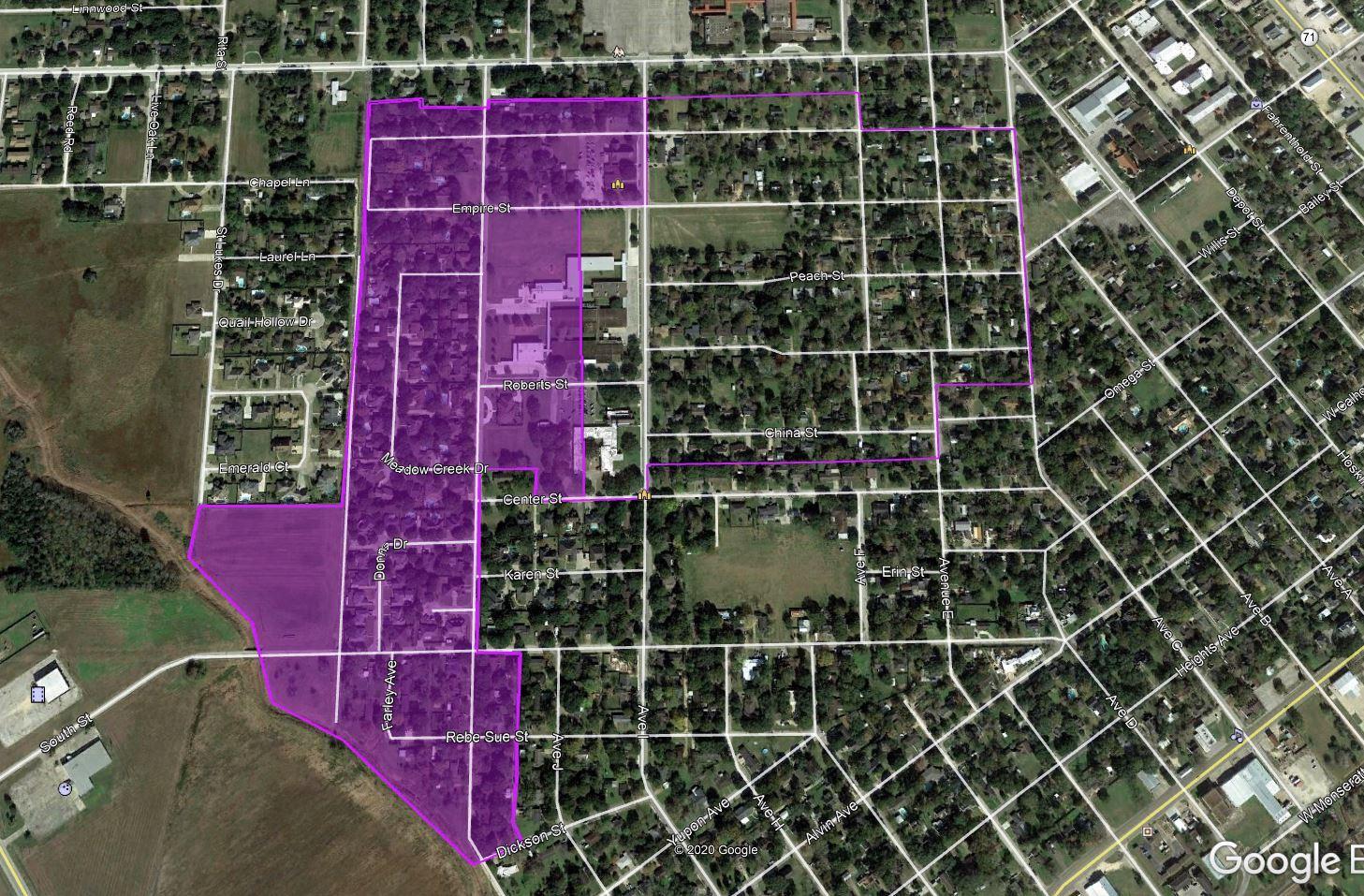 Zone E Map 10/02/20